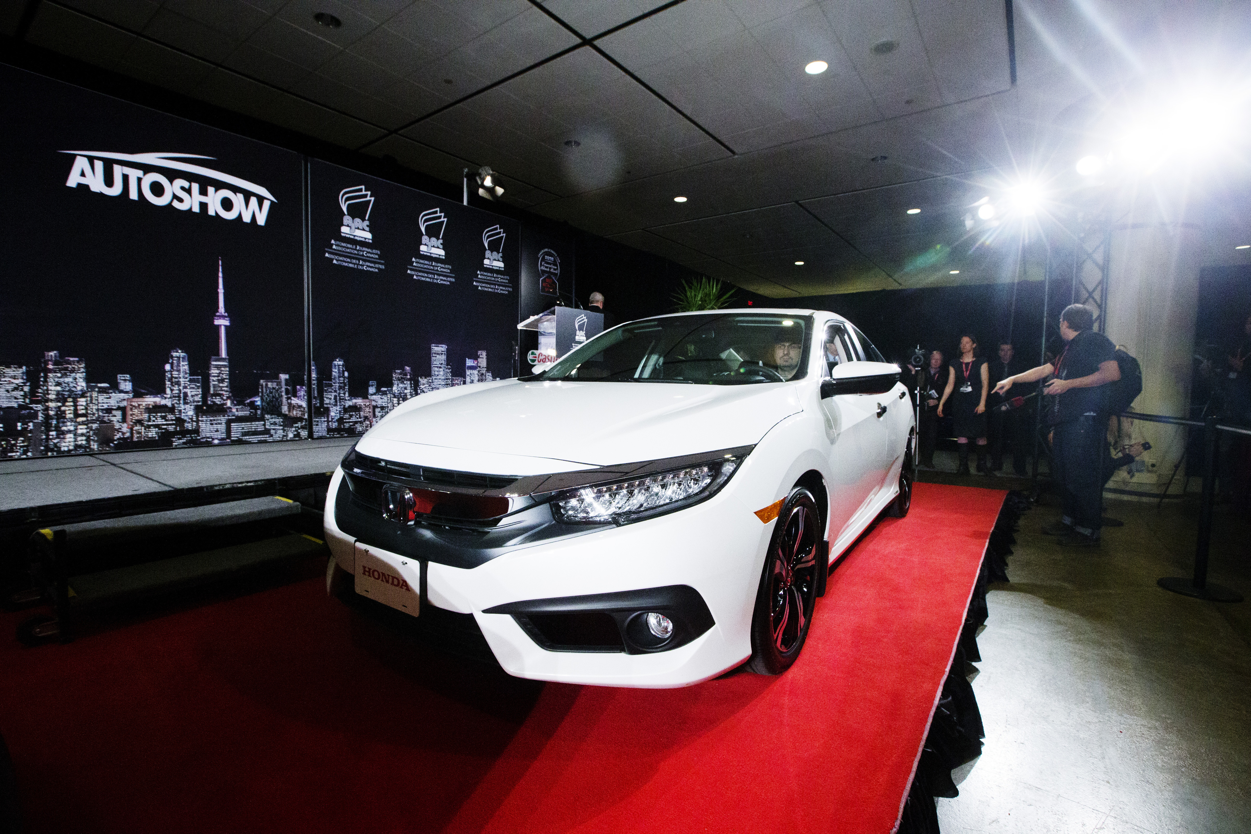 Honda Civic claimed top honours as the 2016 Canadian Car of the Year (CCOTY) by the Automobile Journalists Association of Canada (AJAC).  (Photos By: Michelle Siu)
