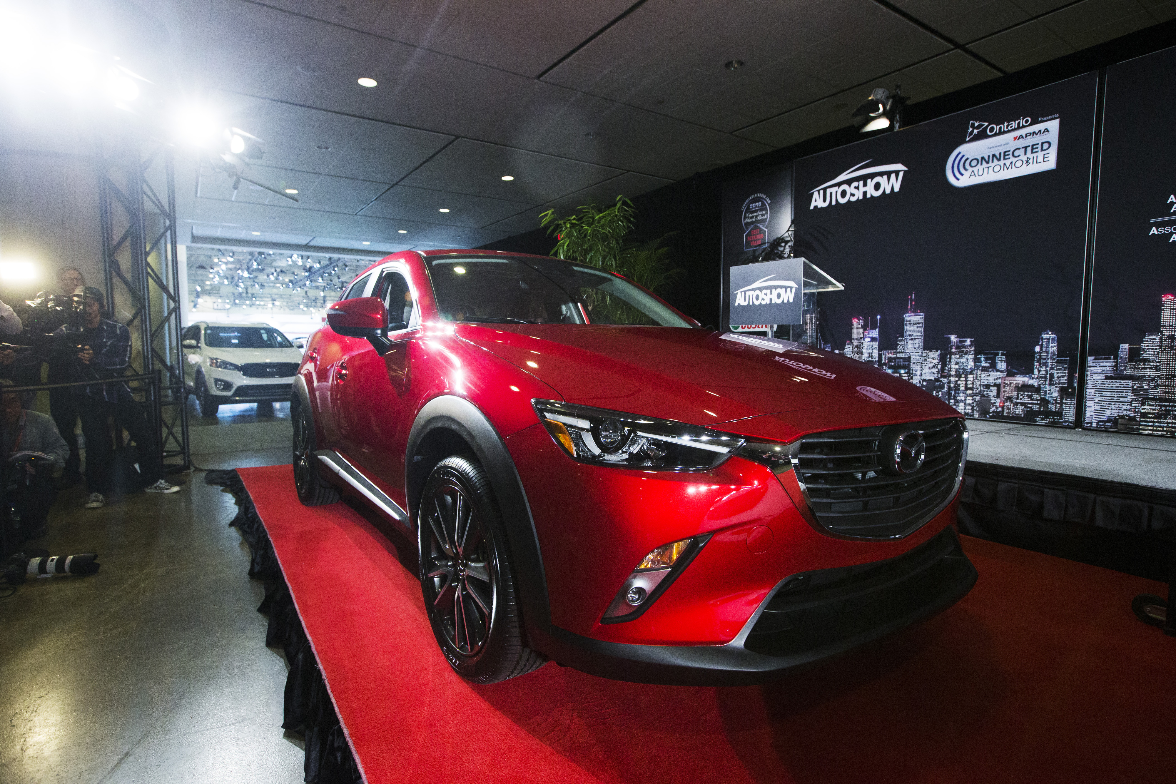 The Mazda CX-3 which claimed top honours as the utility vehicle was declared the 2016 Canadian Utility of the Year by the Automobile Journalists Association of Canada (AJAC).  (Photos By: Michelle Siu)